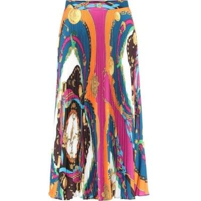 ヴェルサーチ Versace レディース ロング・マキシ丈スカート スカート Pleated maxi skirt Rosso/Stampa