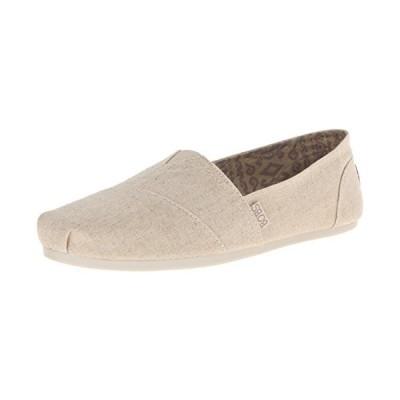 BOBS from Skechers レディース フラシ天 ファッション スリップオン フラット US サイズ: 7 カラー: ホワイト