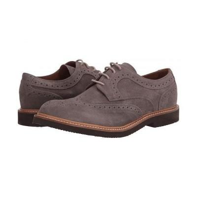 eleventy メンズ 男性用 シューズ 靴 オックスフォード 紳士靴 通勤靴 Suede Wing Tip Lace-Up Oxford - Grey