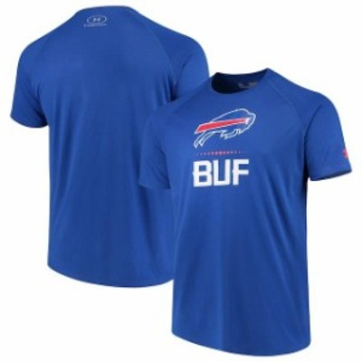 Under Armour アンダー アーマー スポーツ用品  Under Armour Buffalo Bills Royal Authentic Combine Lockup Tech T-Shirt