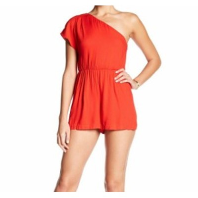 Alice + Olivia アリス+オリビア ファッション ジャンプスーツ Alice + Olivia NEW Red One-Shoulder Elastic Waist Womens 6 Romper
