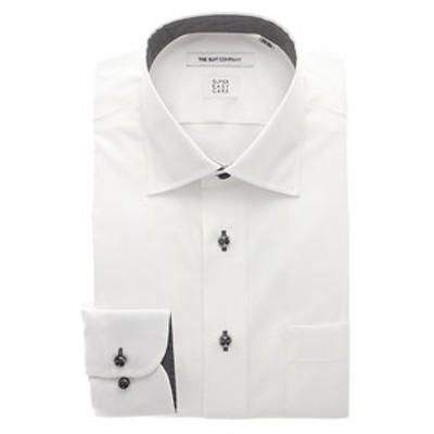 ▽【SUPER EASY CARE】ワイドカラードレスシャツ シャドーストライプ 〔EC・FIT〕