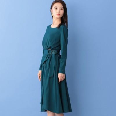 ベルテッド ジャージードレス