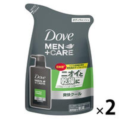 ユニリーバ【セール】Dove MEN(ダヴメン)+ケア ボディウォッシュ 爽快クール エクストラフレッシュ 替 320g 2個 ユニリーバ