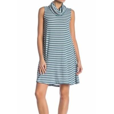 Shift  ファッション ドレス Abound NEW Green Womens Size XXS Stripe Cowl Neck Knit Shift Dress