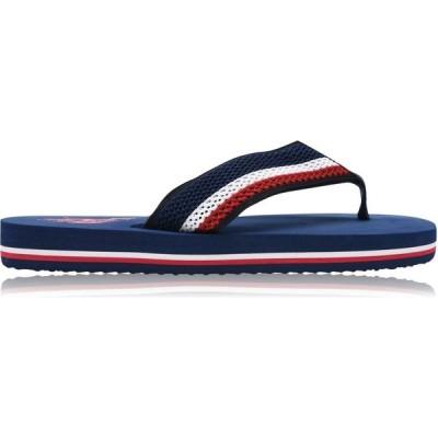ユーエスポロアッスン US Polo Assn メンズ ビーチサンダル シューズ・靴 US Polo NettunoFFlip Sn02 Navy DKBL/RED