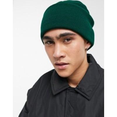 エイソス メンズ 帽子 アクセサリー ASOS DESIGN beanie in emerald green Green