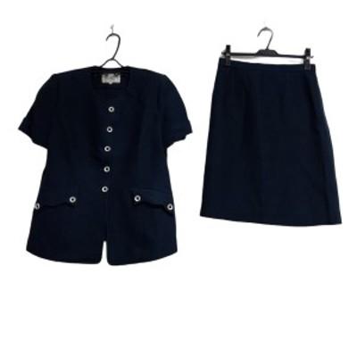ジュンアシダ JUN ASHIDA スカートスーツ サイズ13 L レディース - ネイビー【中古】20210404