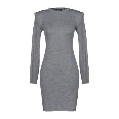ディースクエアード DSQUARED2 ミニワンピース&ドレス グレー XS ウール 100% ミニワンピース&ドレス