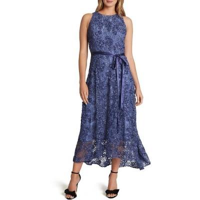 タハリエーエスエル  レディース ワンピース トップス Subtle Sparkle Soutache Lace Hi-Low Midi Dress Periwinkle