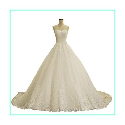 Fair Lady Sweetheart Plus Size Lace Wedding Dress Long Sleeveless Ball Gown Bridal Dresses White並行輸入品