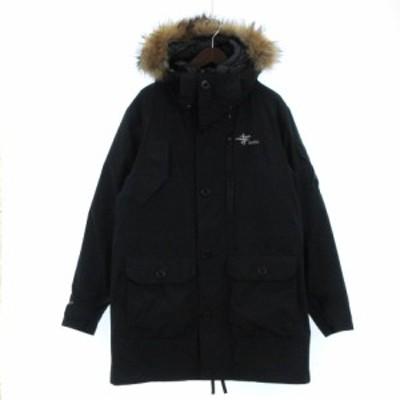 【中古】Foxfire オーロラジャケット ライナーダウン ロゴ 刺繍 GORE-TEX ゴアテックス 5113732 ブラック XL ■SM