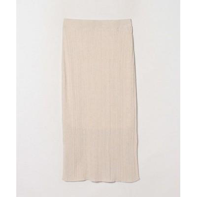 <LANVIN en Bleu(Women)/ランバンオンブルー>【セットアップ対応商品】ランダムリブタイトニットスカート ベージュ【三越伊勢丹/公式】