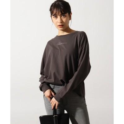 tシャツ Tシャツ 【26(S)WEB限定サイズ】【洗える】手描き風ロゴロンT
