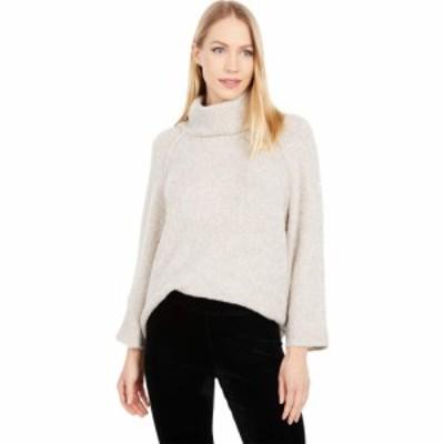 リラピー Lilla P レディース ニット・セーター トップス Easy Turtleneck Boucle Sweater Oat