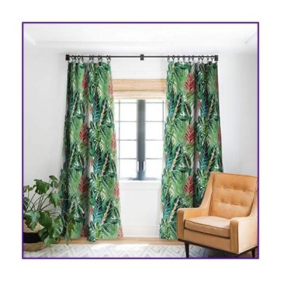 "Deny Designs 71071-bowc05 Gale Switzer Havana Jungle Blackout Curtains, 50"" x 120"", Green【並行輸入品】"