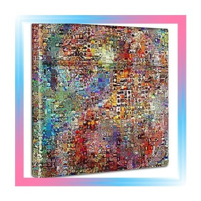 Mサイズ 30×30cm  カラフル ポップ アートパネル 30cm × 30cm