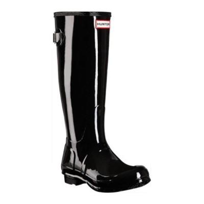ハンター Hunter レディース レインシューズ・長靴 シューズ・靴 Original Back Adjustable Gloss Rain Boot Black