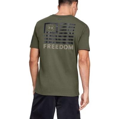 アンダーアーマー シャツ トップス メンズ Under Armor Men's Freedom Banner T-Shirt MarineOdGreen/Black