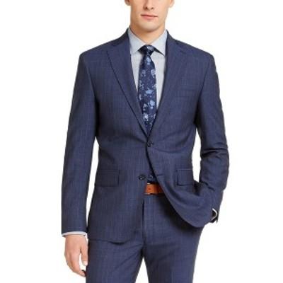 ダナ キャラン ニューヨーク メンズ ジャケット&ブルゾン アウター Men's Slim-Fit Stretch Suit Jackets Navy/ Blue Stripe