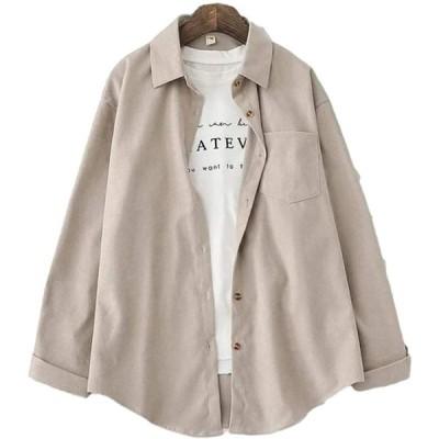 [フィオリア] シャツブラウス ラウンドカット ワイシャツ 前開き れでぃーす シンプルシャツ 春色シャツ Yシャツ 長そで しゃつ 春物 着痩せ オ