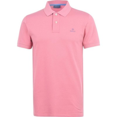 ガント Gant メンズ ポロシャツ トップス Contrast Rugger Polo Shirt Pink