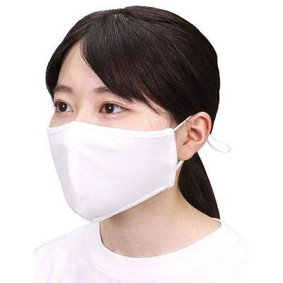 ひんやりUVカットマスク(大人用) 1枚 ホワイト / 夏用 洗える 耳が痛くならない クールマスク 繰り返し使える 日焼け 紫外線対策 花粉 風邪 /メール便可