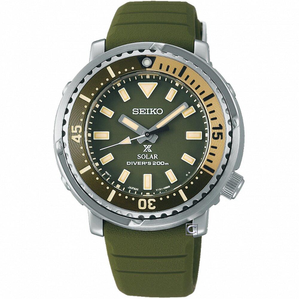 SEIKO精工PROSPEX STREET小鮪魚太陽能潛水錶 (SUT405P1/V131-0AM0G)-38.6mm