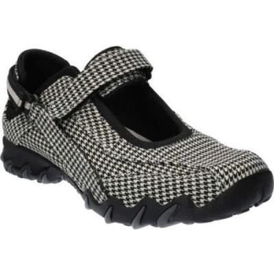 オールラウンダー Allrounder by Mephisto レディース シューズ・靴 Niro Active Mary Jane Black/Beige Square Textile
