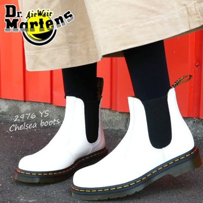 ドクターマーチン Dr.Martens メンズ レディース チェルシーブーツ サイドゴアブーツ 2976 YS白 ホワイト 革靴 スムース イエローステッチ 26228100