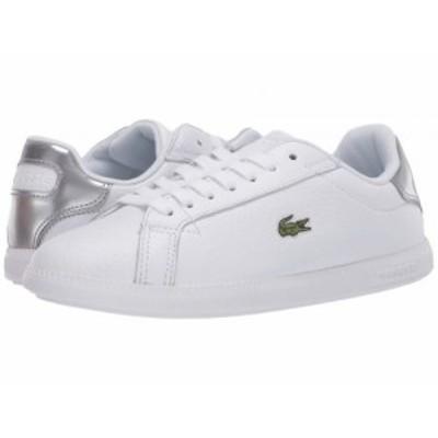Lacoste ラコステ レディース 女性用 シューズ 靴 スニーカー 運動靴 Graduate 120 1 White/Silver【送料無料】