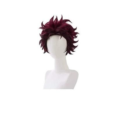 SKYBEAUTY Demon Slayer Kimetsu no Yaiba Kamado Tanjirou Cosplay Wig Short Layered Brown Wigs Anime Fans Gift