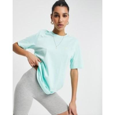 アディダス レディース シャツ トップス adidas Originals Adicolor boyfriend fit logo T-shirt in clear mint Green