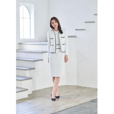 ANAYI/アナイ ファンシーツイード変形クルージャケット ホワイト 36