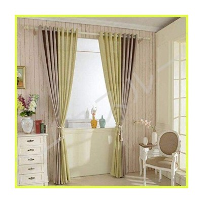 Linen Look Curtain, Semi-Sheer Voile Window Super Soft Machine Washable Room Drapes with Grommet Drapery Great for Bedroom Living Room Kitch