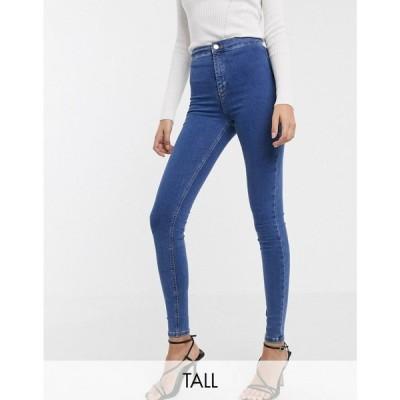 トップショップ Topshop Tall レディース ジーンズ・デニム ボトムス・パンツ Joni skinny jeans in mid wash blue ブルー