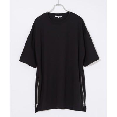 サイドZIP半袖BIGTシャツ