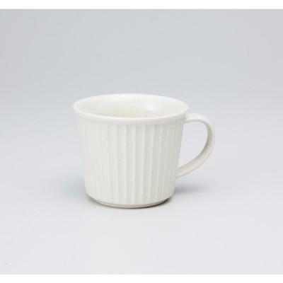 〔美濃焼 マグカップ〕粉引レリーフマグ大