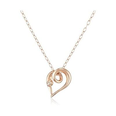 [キャーロ ディ ディアマンテ] ダイヤモンド 0.01ct ピンクゴールド K10 ネックレス CHD0109