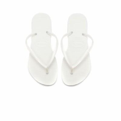 ハワイアナス Havaianas レディース ビーチサンダル シューズ・靴 Slim Flip Flop White