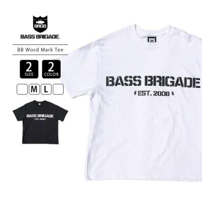 バスブリゲード Tシャツ BASS BRIGADE Tシャツ 半袖 BB Word Mark Tee バス釣り ブラックバス アウトドア WMTE01