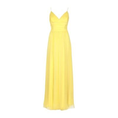 RALPH LAUREN BLACK LABEL ロングワンピース&ドレス イエロー 8 シルク 100% ロングワンピース&ドレス