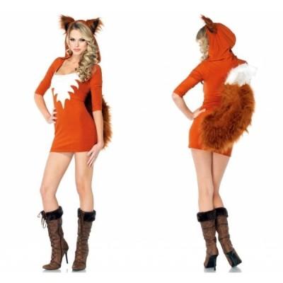 ハロウィンクリスマスコスプレ衣装ドレス仮装大人用アニマル動物狐セクシーコスチュームレディースパーティーイベントおしゃれ