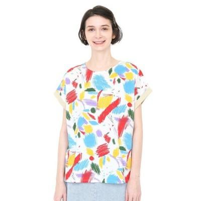 tシャツ Tシャツ バックボタンTシャツC/キャットイントライアルライティング