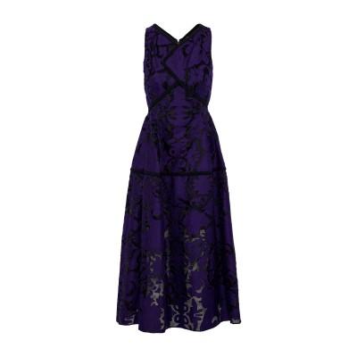 ローラン ムレ ROLAND MOURET 7分丈ワンピース・ドレス パープル 8 コットン 77% / シルク 23% 7分丈ワンピース・ドレス