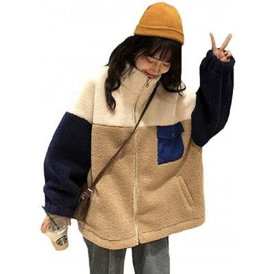 ボアジャケット レディース ブルゾン ボアコート ジャケット 防寒コート ゆったり 暖かい もこもこ 長袖 冬 アウターコー(s2012251417)