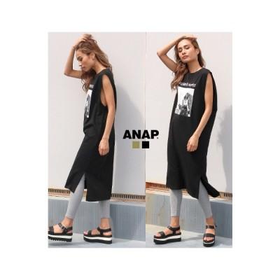 ANAP フォトタンクトップワンピース / ANAP / 797-7776 グリーン フリー レディース
