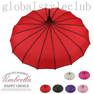 傘長傘16本骨晴雨兼用日傘雨傘軽量丈夫ワイド紫外線対策撥水花柄グラスファイバー強風風に強い長傘雨具超軽量おしゃれ
