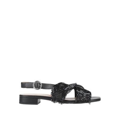 APEPAZZA サンダル ブラック 39 革 / 紡績繊維 サンダル