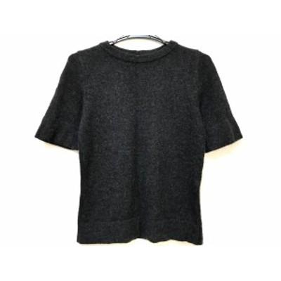 フォーティーファイブ・アール 45R 半袖セーター サイズ2 M レディース - 黒 カシミヤ【中古】20210209